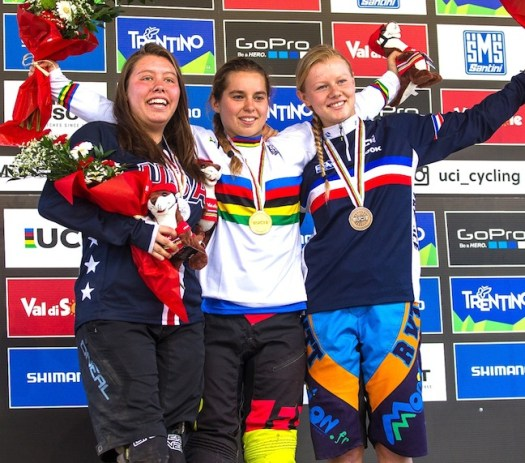 Junior Women's podium [P] Fraser Britton
