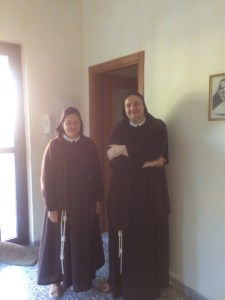 "The two sisters from the convent who handled arrangements with ""Monastery Stays"""