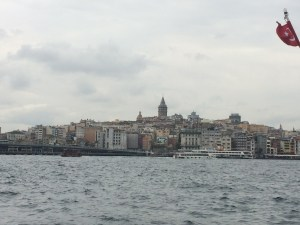 Strolling along the Bosphorus on a cloudy morning