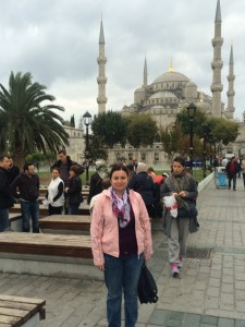My helpful, delightful, informative and generous host for the day, Burcu.