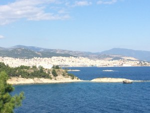 Nearing Kavala and my destination for the night