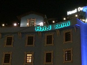 Staying at Hotel Rumi. Now, c'mon! How perfect is that!