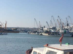 The waterfront and fish market at Silivri--just delightful!
