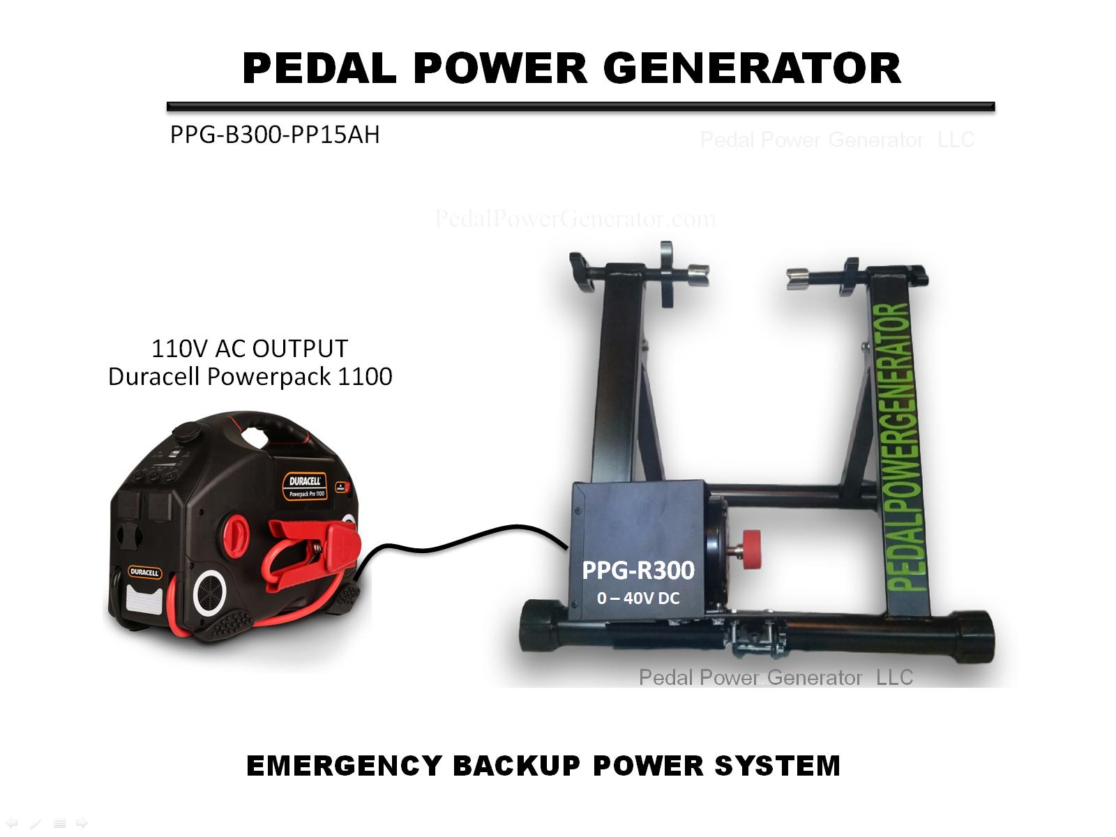 Emergency Pedal Power System