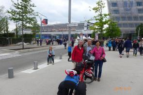 Abfahrt mit Queen Mary in Hamburg