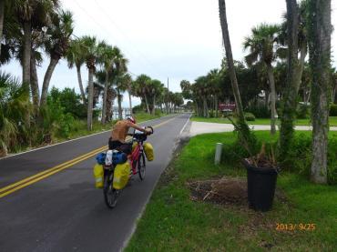 Auf Merrit Island am Wasser entlang Florida
