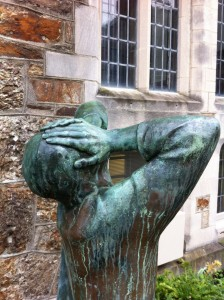Statue in Harvard Yard