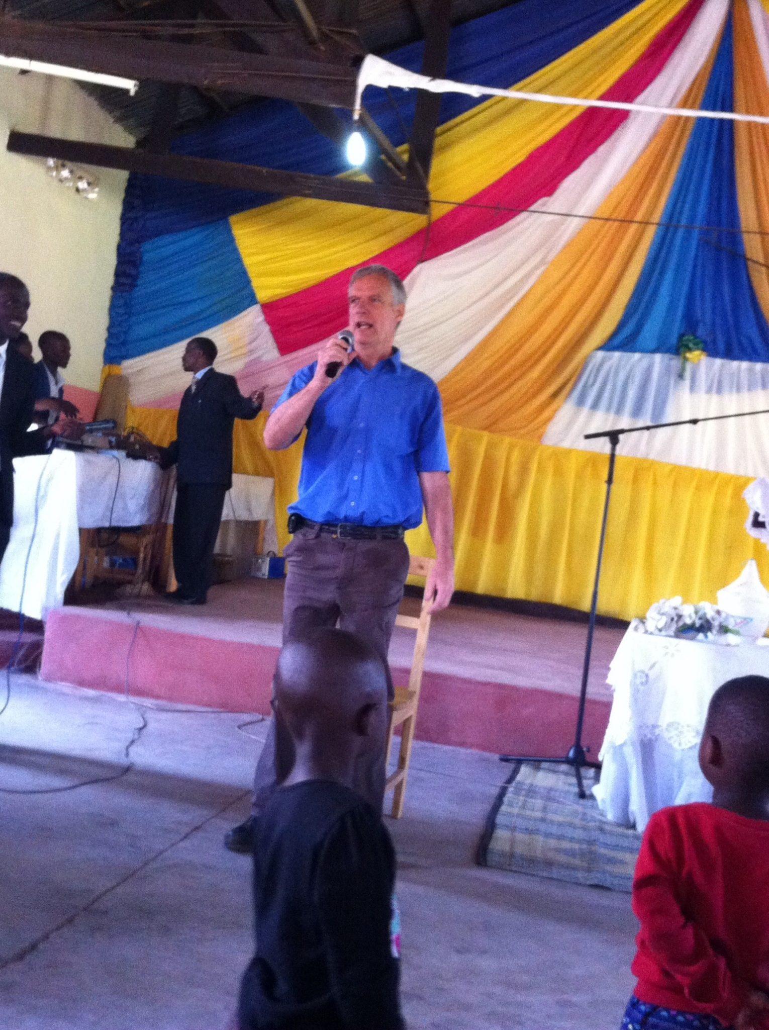 Jonathan giving a message