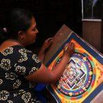 Painting a Buddhist Mandala