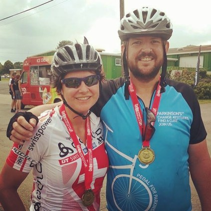 finished - happy with our medals