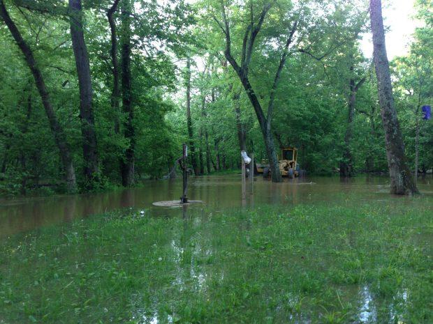 flooded bike trail