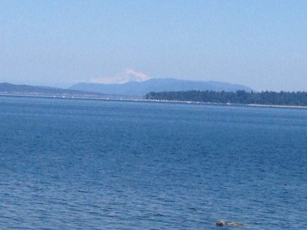 Mt. Baker over water