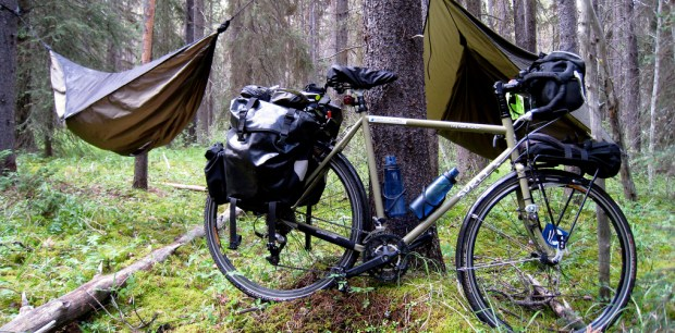 bike touring with hammocks