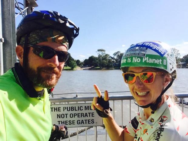 bike touring australia with hels