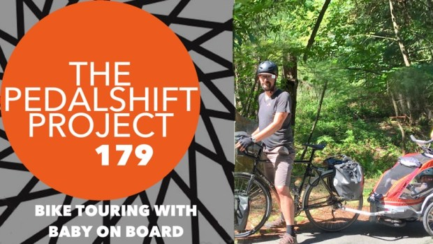 bike touring with baby on board