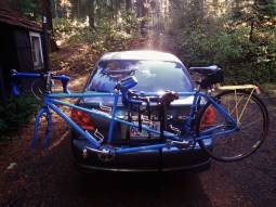 Ready to go in the morning; the tandem is about as long as our Echo...