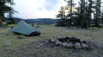 The campsite for the night.