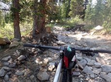 Old Jeep roads are sometimes more technical than singletrack, as was the case here.