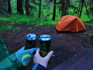 And then it was time to celebrate the start of our weekend in the woods.