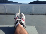 My legs resting in the sun