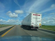 one of the many trucks on the trip home