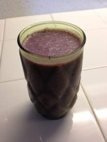Post ride smoothie ...