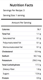 ~ 100 calories