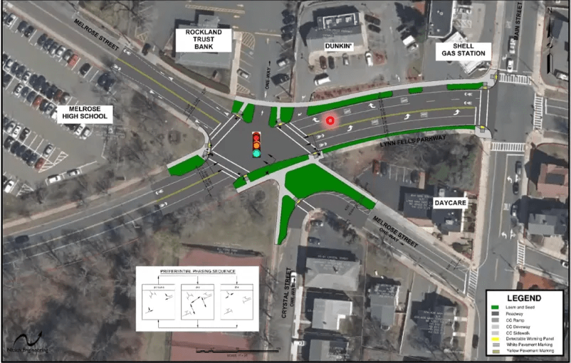 A design alternative for Lynn Fells Parkway and Melrose/Crystal Streets