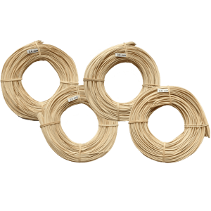 Körbe flechten mit Peddigrohr Naturprodukt aus Rattan geschnitten. Rollen zu 500g gebündelt