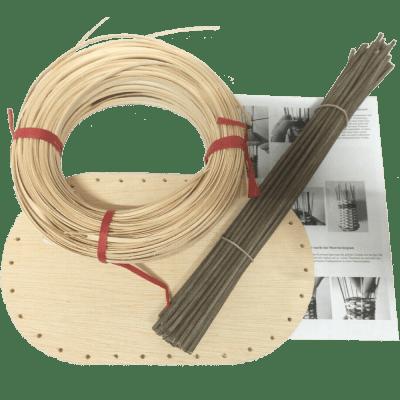 Korbflechtset Flechtset Nr.12 Peddigschiene Korbflechtboden Staken braun