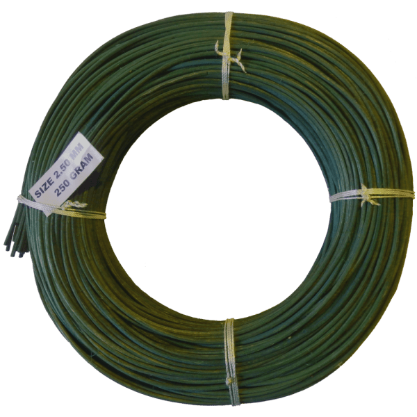 Peddigrohr Flechtmaterial Grün 250g Rolle