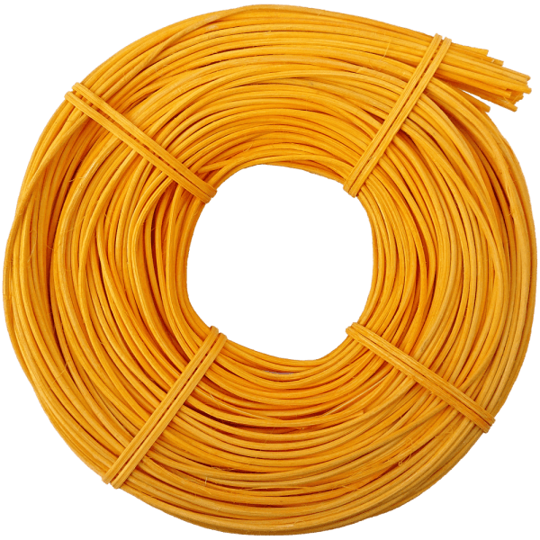 Peddigrohr Gelb Sonnengelb Flechtmaterial Korbflechten