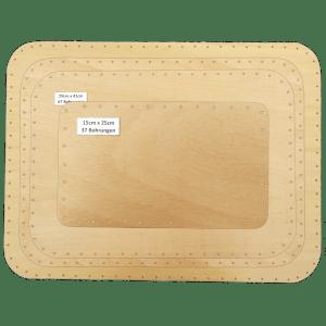 Korbflechtboden Sperrholz massiv eckig abgerundet