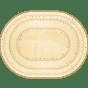 korbflechtboden Sperrholz massiv oval
