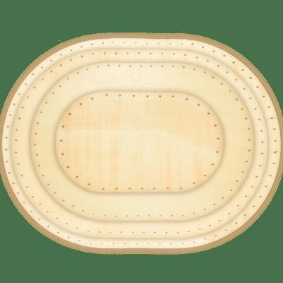 Sperrholz oval