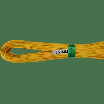 Peddigrohr gelb gefärbt langgelegt 2,25mm 250g Bund