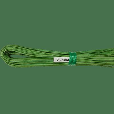 Peddigrohr grün gefärbt langgelegt 2,25mm 250g Bund