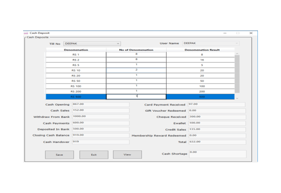 Day activity screen image of Peddle Plus billing software