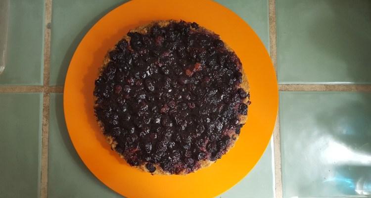 Pedestal Bruised Blueberry Pie