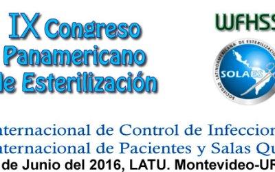 IX CONGRESO PANAMERICANO DE ESTERILIZACION, 22 al 24 de junio 2016.