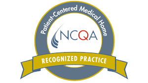 Website badge from the NCQA designating Pediatrics By The Sea as a Patient-Centered Medical Home
