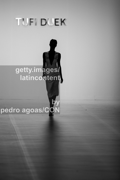 SAO PAULO, BRAZIL - MARCH 18: A model walks the runway at Cori Summer 2013/2014 Collection show during São Paulo Fashion Week (SPFW) on March 18, 2013 in São Paulo, Brazil. (Photo by Pedro Agoas/LatinContent/Getty Images)