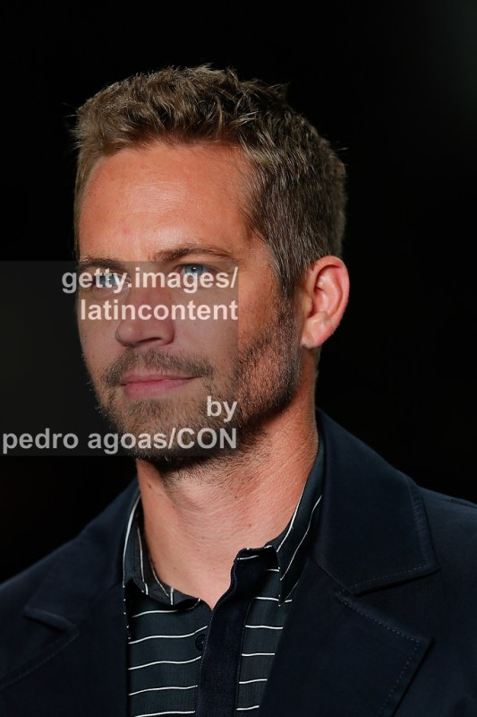SAO PAULO, BRAZIL - MARCH 21: Paul Walker walking down the runway showing a design by Colcci during São Paulo Fashion Week (SPFW) Summer 2013/2014 on March 21, 2013 in São Paulo, Brazil. (Photo by Pedro Agoas/LatinContent/Getty Images)