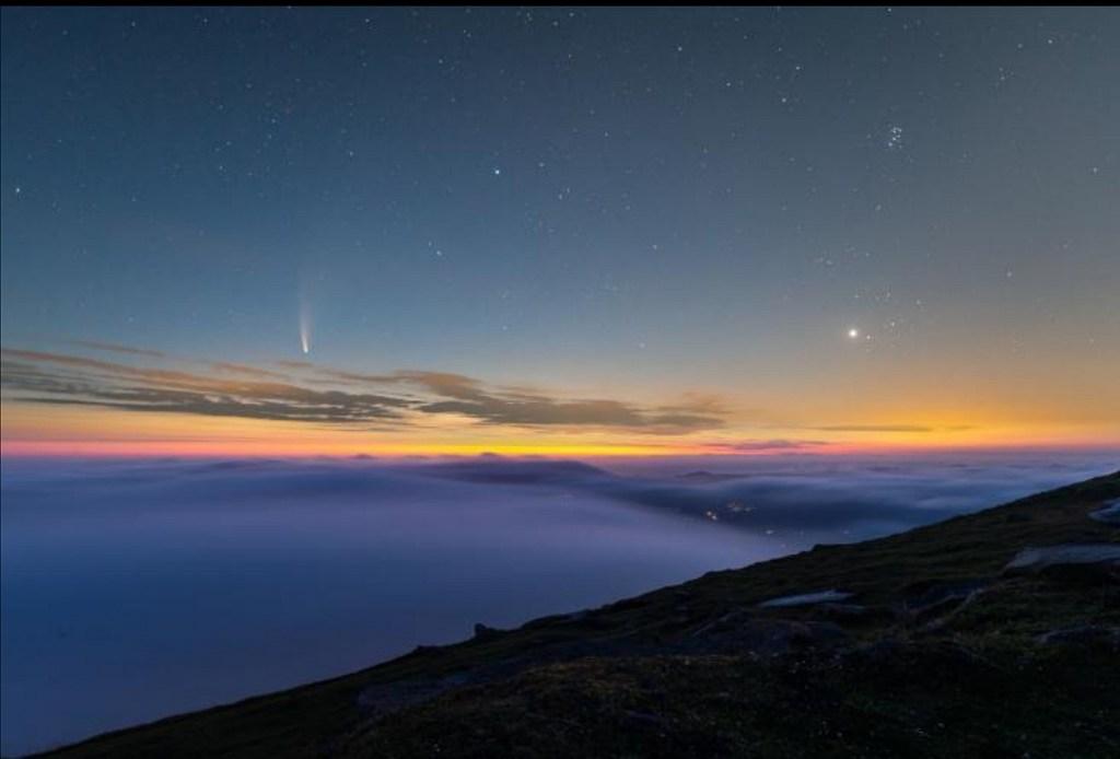 Imagen del Cometa Neowise por Daniel Doncel