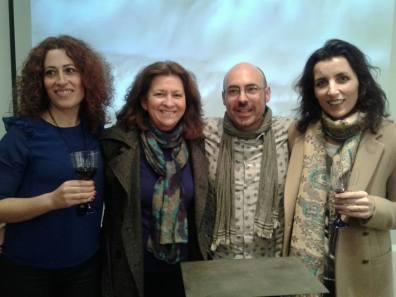 Con Lydia, Susana y Olga.