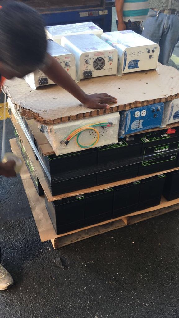 Providing batteries to Puerto Rico