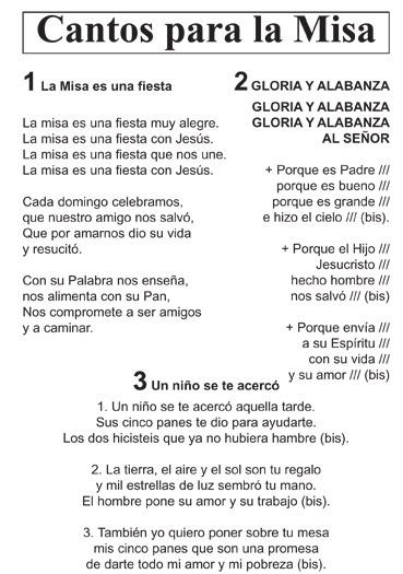16 CANTOS PARA LA MISA CON NIÑOS