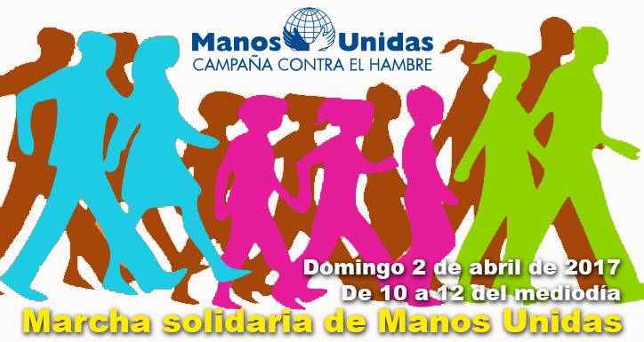 Domingo 2 de abril: MARCHA SOLIDARIA DE MANOS UNIDAS