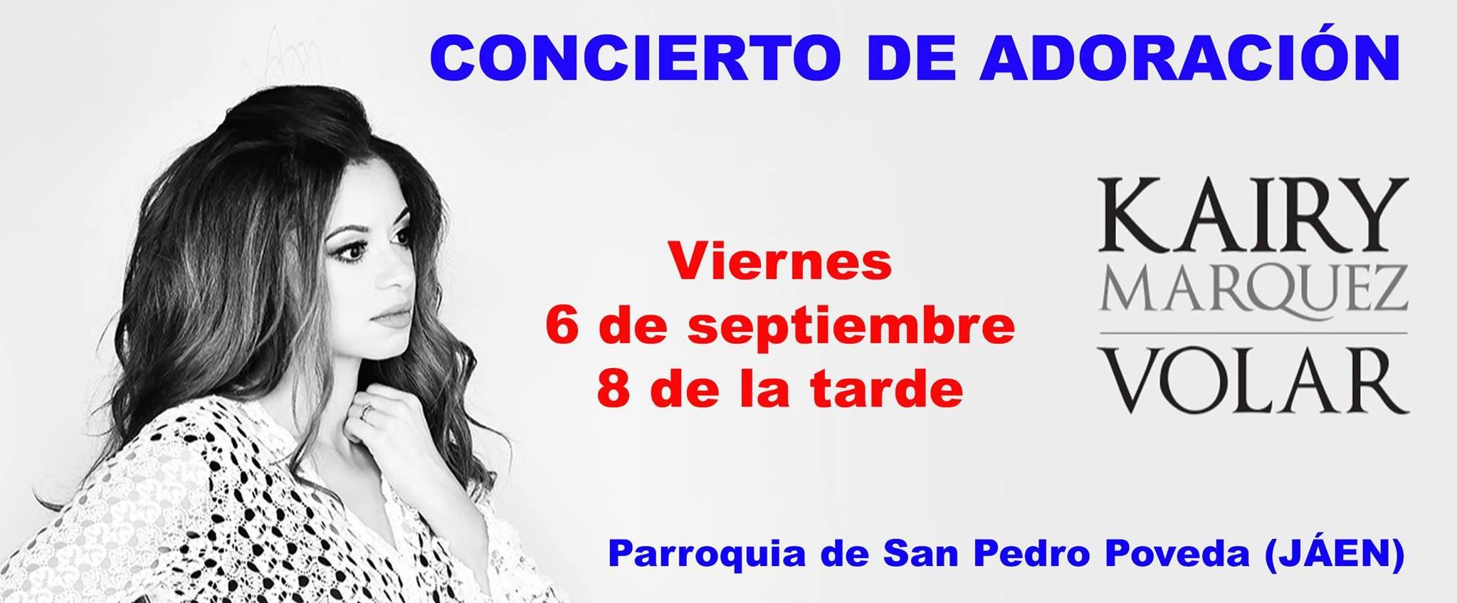 6 de septiembre: Concierto de adoración por Kairy Márquez