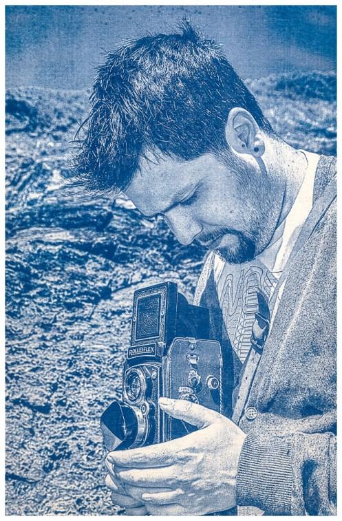 Cianotipia. - El Fotografo aficionado. Positivado manual con luz solar.